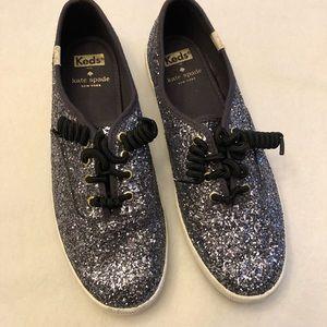 Kate Spade Keds Glitter Sneakers. Size 7.5.